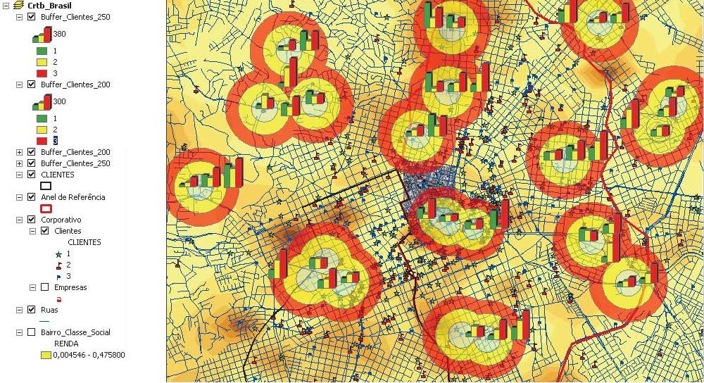 Przykład analizy geomarketingowej (Źródło: http://www.esri.com)