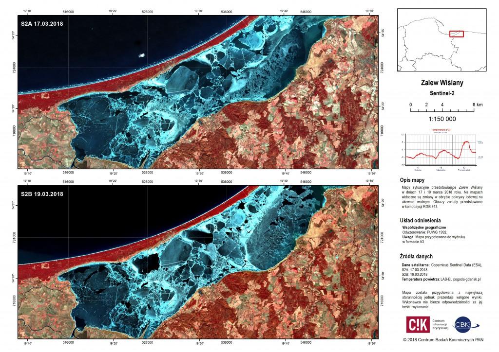 Mapy sytuacyjne: Zalew Wiślany, Ujście Wisły