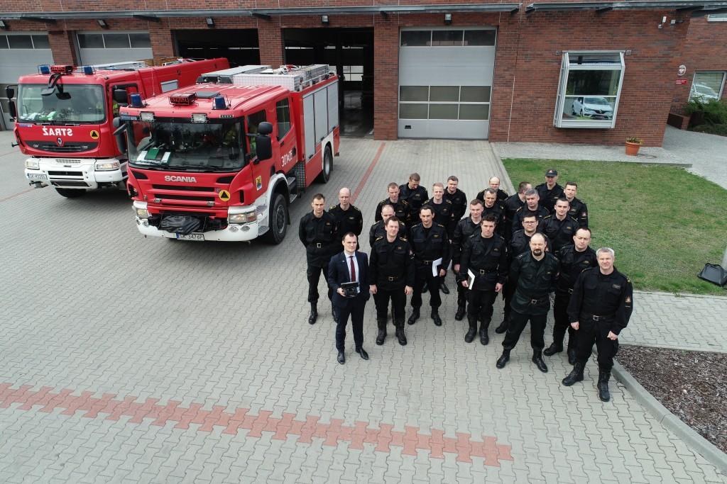 Szkolenie dla funkcjonariuszy PSP w Katowicach